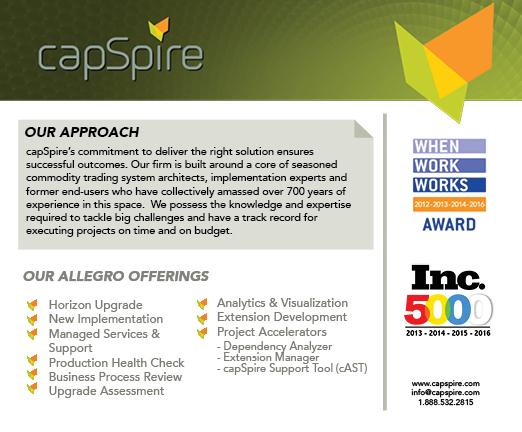 capSpire Sponsor Allegro Summit