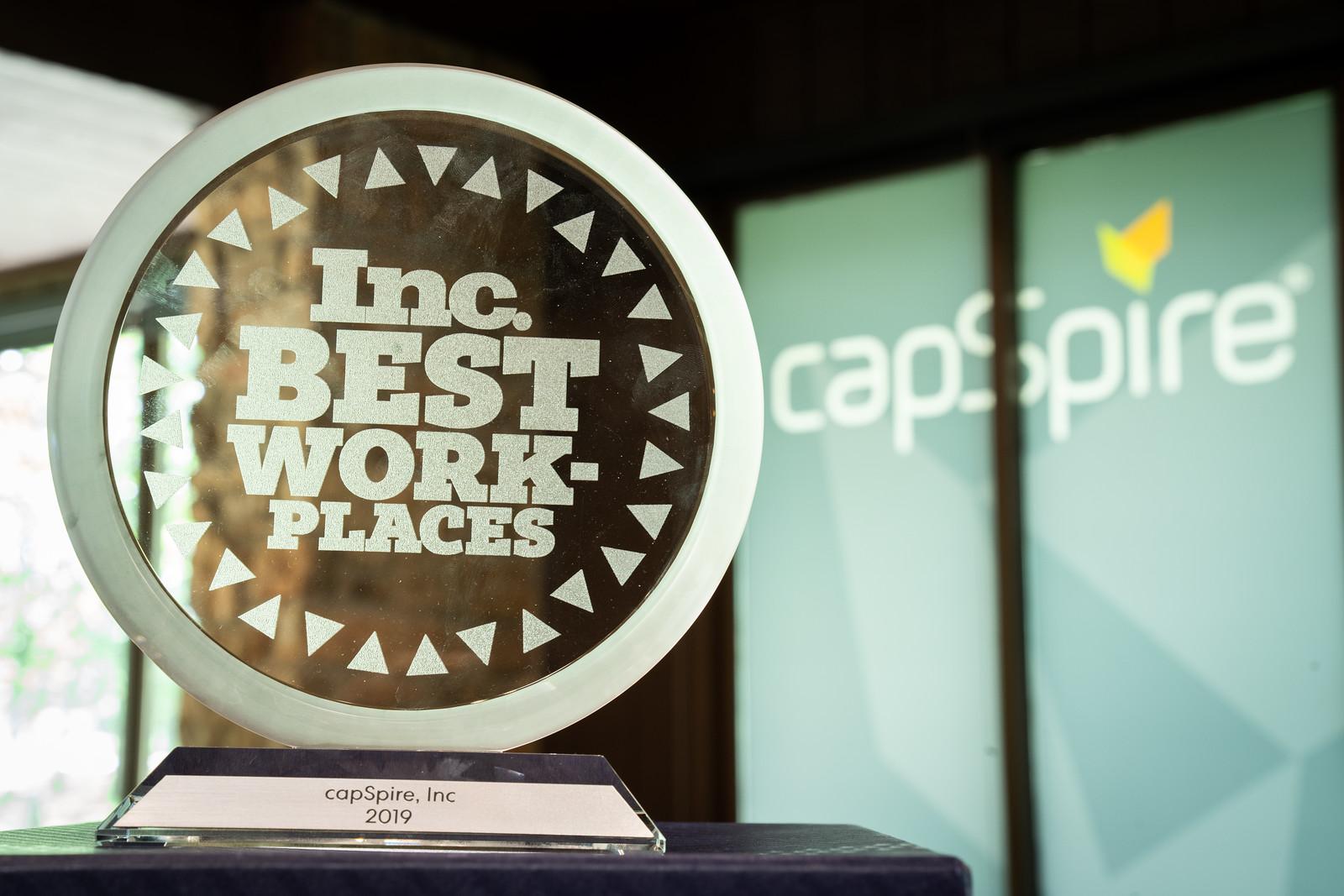 capSpire Lands on Inc. Magazine's 2019 Best Workplaces List